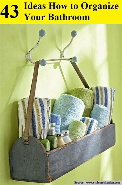 43 ideas how to organize your bathroom style motivation 43 ideas how to organize your bathroom home and life tips