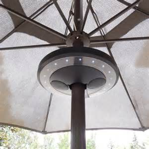 Patio Umbrellas With Led Lights Patio Umbrella Bluetooth Speaker With Led Lights Outdoorandabout