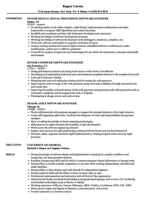 engineer senior software engineer resume sles