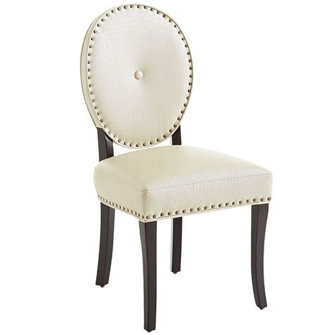 Pier 1 Leather Chair by Cadence Dining Chair Alabaster Leather 169 95 At Pier 1