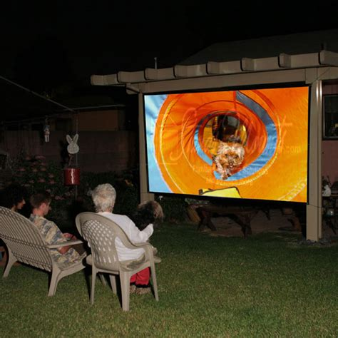 elite screens diy pro outdoor rear projector screens