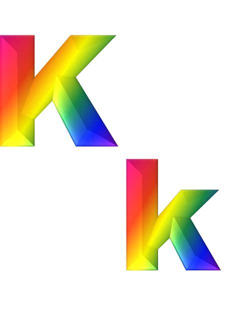 design art k k illustration gratuite lettre k 3d abc alphabet