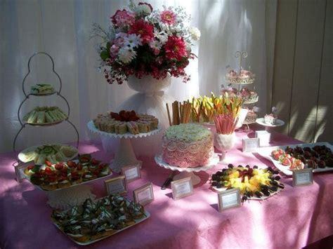catering idea for bridal shower ideas
