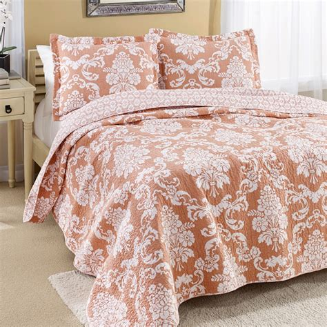 Coral Quilts And Coverlets Bedding Venetia Coral Quilt Set Coverlets