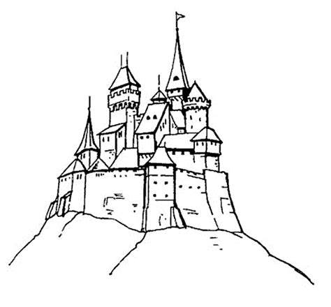coloring page castle free printable castle coloring pages for