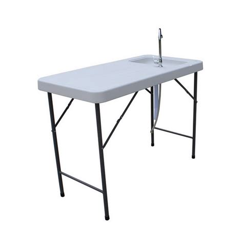 fillet table with sink palm springs folding portable fish fillet cleaning table w
