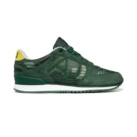 armani shoes for armani logo sneakers in green for lyst