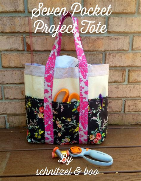 tutorial tote bag with pockets tutorial seven pocket project tote schnitzel boo