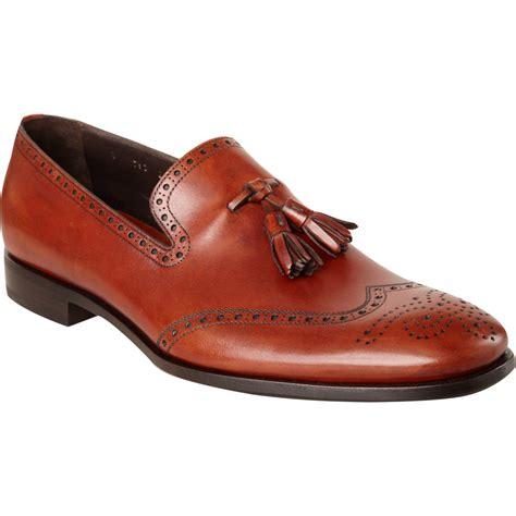 Azcost Wingtip prada perforated wingtip tassel loafer in brown for lyst
