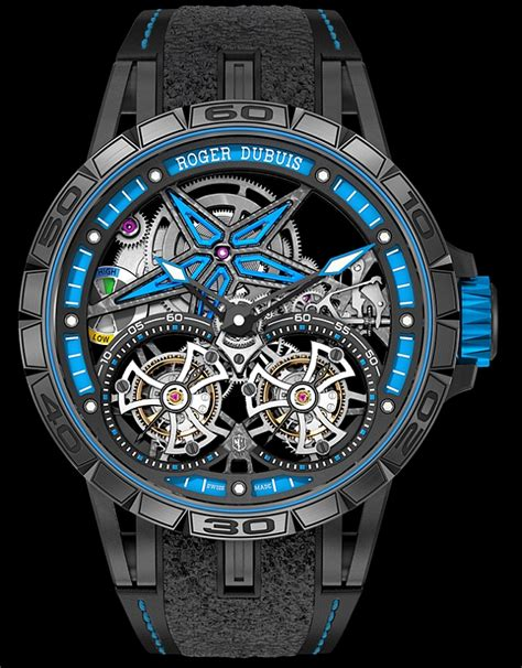Roger Dubuis Excalibur Dual Tourbillon Black day 2 salon world