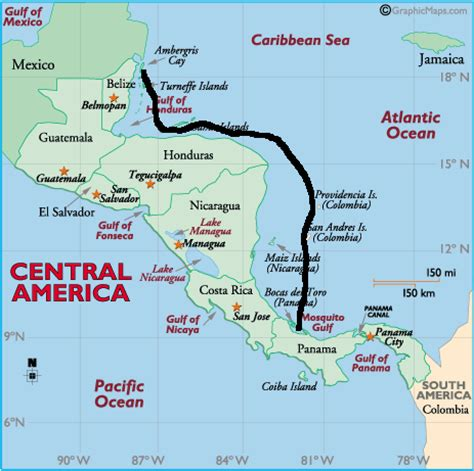 map of belize central america to belize