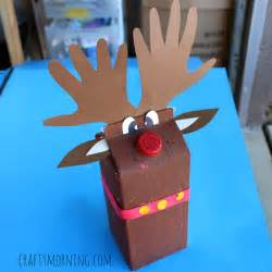 How To Make A Card Out Of Paper - milk carton reindeer christmas craft for kids crafty morning