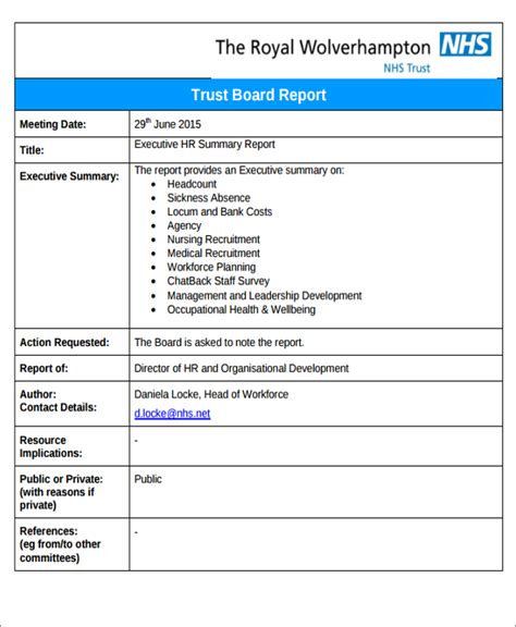 nhs business plan template executive report templates 7 free word pdf format