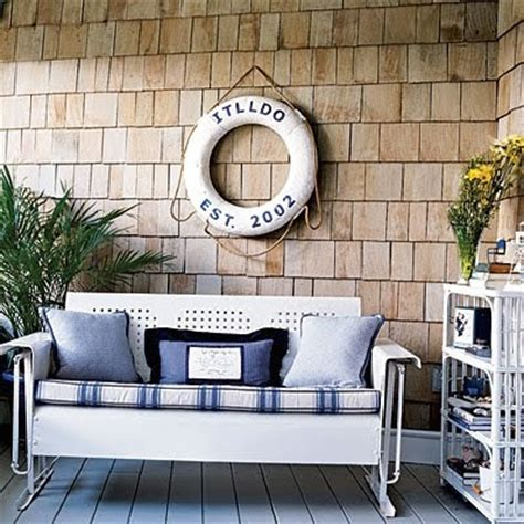 nautical patio decor decorating with preserver rings completely coastal