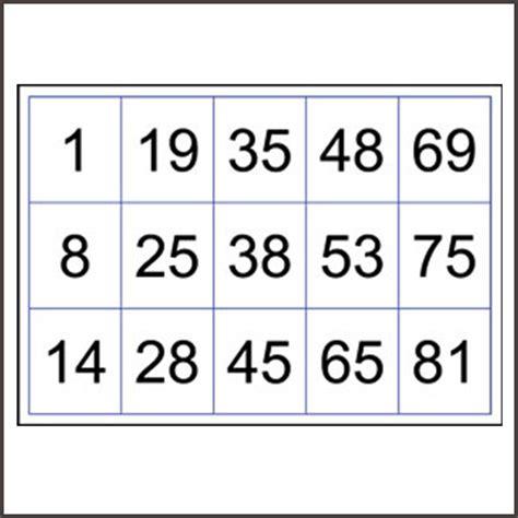 printable numbers 1 90 bingo cards numbered to 90 printable box n dice