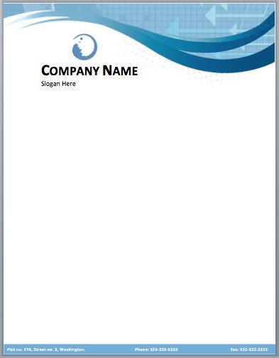 business company letterhead template small medium