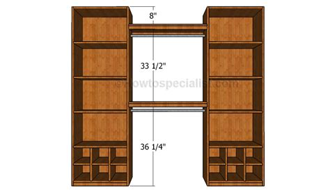Closet Fittings by How To Build A Closet Organizer Howtospecialist How To