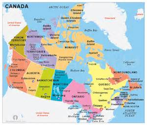 political map of united states and canada canada political map political map of canada political