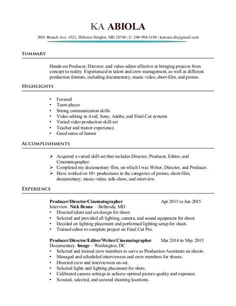gaffer resume resume ideas