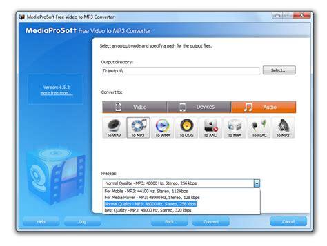 free mp3 converter no download mediaprosoft free video to mp3 converter 6 4 3 download