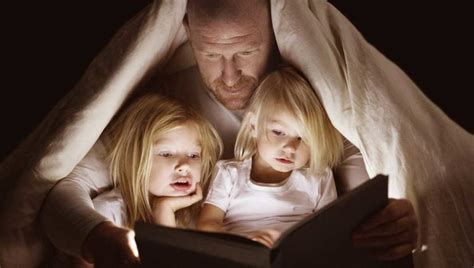 adult bed time stories grown adult explaining to child that there is no bogeyman