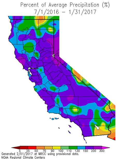 california temperature map january january 2017 southern california weather notes