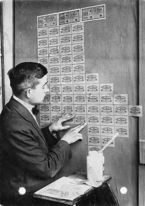 using banknotes as wallpaper during german hyperinflation 1923