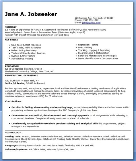 entry level engineering resume berathen entry level software ideas
