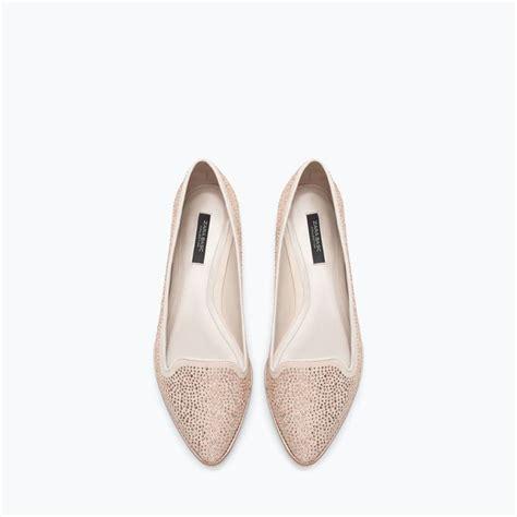 feminine flat shoes zara new this week patterned feminine moccasin fem