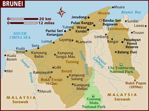 brunei map brunei darussalam info