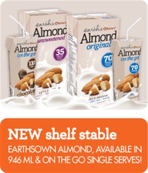 Almond Milk Shelf Stable by Earth S Own Shelf Stable Almond Milk Contest