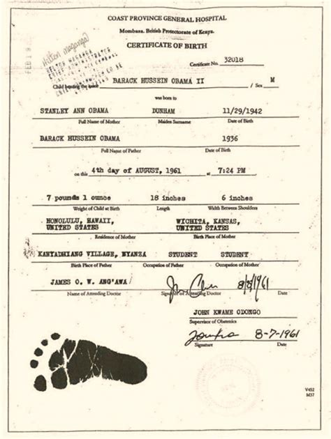 barack obama birth biography barack obama s kenyan birth certificate exposed by his