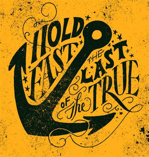 typography quotes tutorial hold fast art ideas pinterest