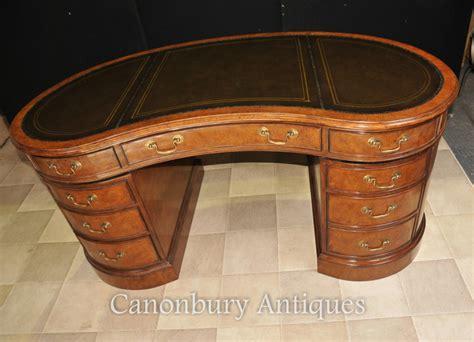 Kidney Bean Shaped Desk Regency Kidney Bean Desk In Walnut Writing Table Bureau Ebay