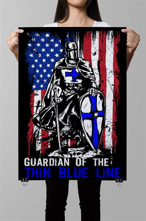 Police Officer Home Decor by Guardians Of The Thin Blue Line Poster Police Life