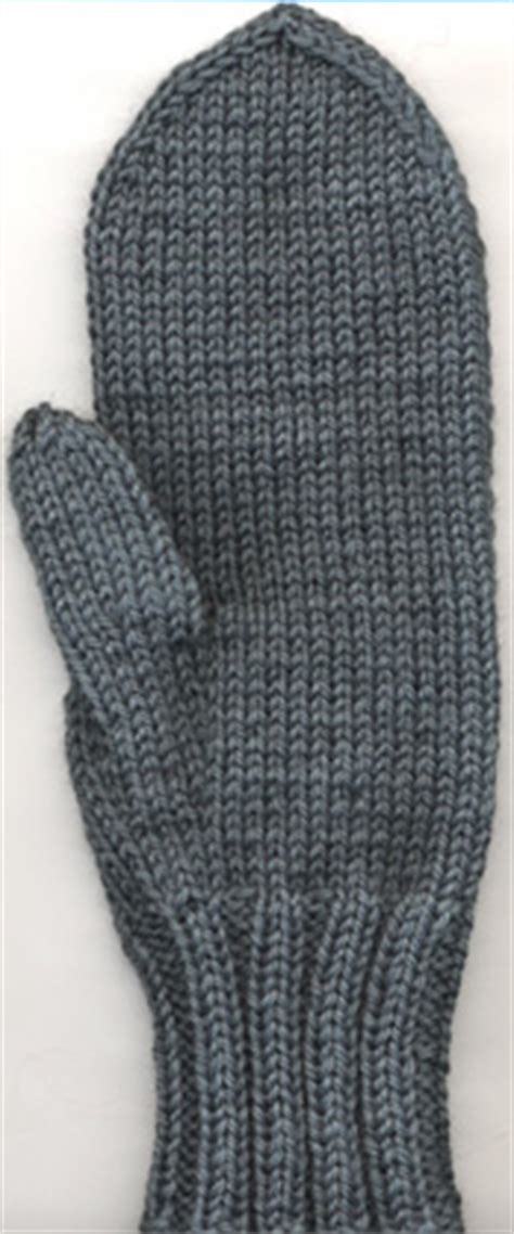 knitted mittens on 2 needles two needle mittens knitting patterns hanson