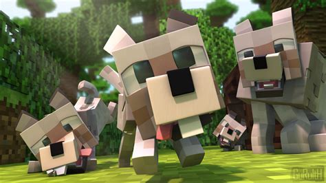 minecraft dogs charge minecraft by guruith on deviantart