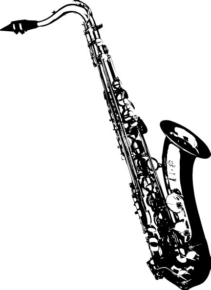 saxophone clip tilted sax clip at clker vector clip