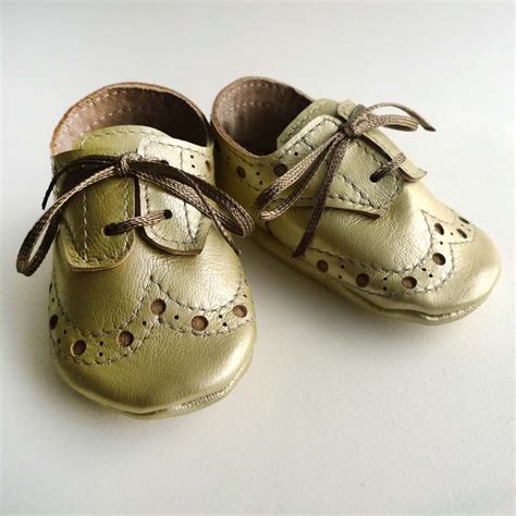 gold shoes baby pale gold leather baby crib dress shoes sewing