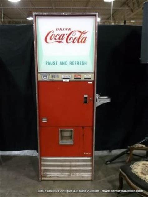 antique vendo vsa144a coca cola bottle dispenser machine w