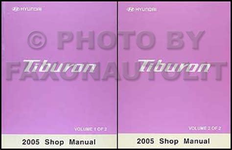 2005 hyundai tiburon repair shop manual original 2 vol set