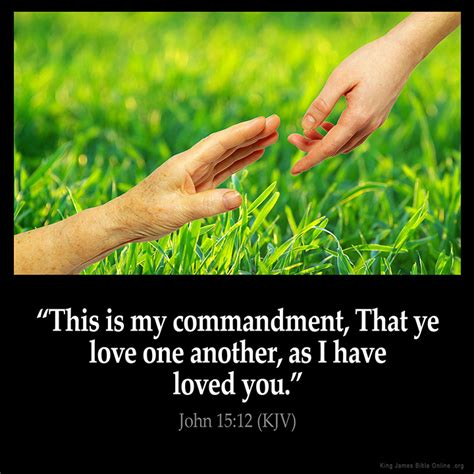comfort one another bible verse john 15 12 inspirational image