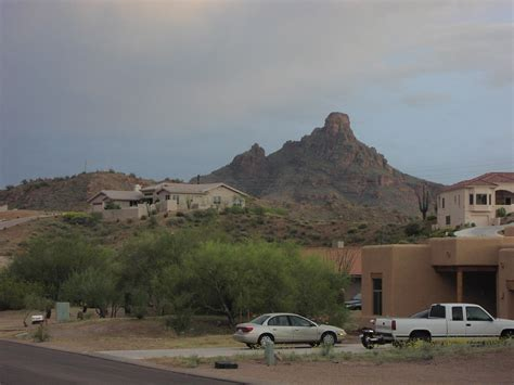 Fountain Hills, AZ : Red Mountain from Red Rock Casistas ... V Banks Model
