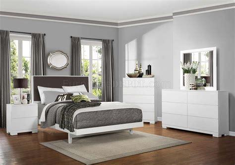 galva bedroom set  homelegance  white
