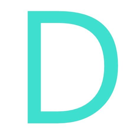 d d free turquoise letter d icon download turquoise letter d