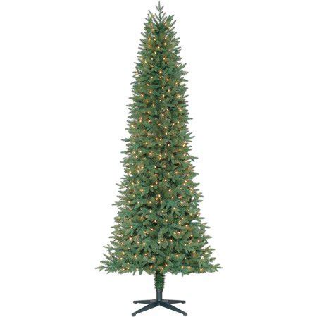 walmart pencil christmas trees artificial time pre lit 7 5 sanford pencil tree green clear lights walmart