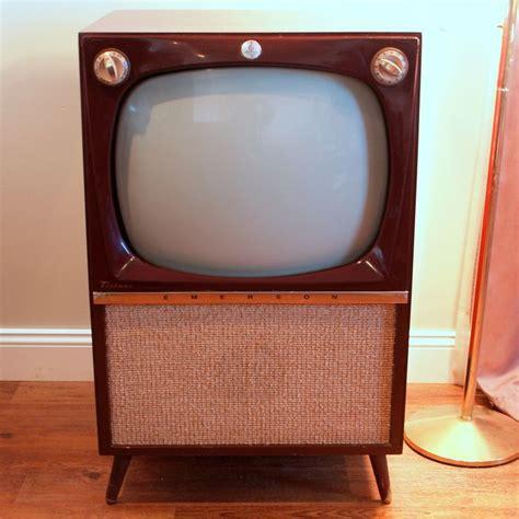 vintage television set 50s atomic console tv mid century