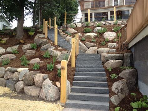 how to landscape a hill landscape ideas for steep backyard hill mystical designs