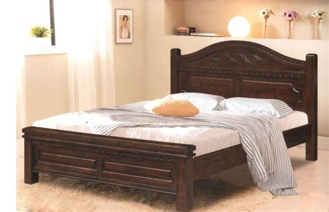 Wood Headboard For Size Bed by Rustic Wooden Bed Frame With Headboard And Footboard Using White Bed Linen And Cotton Pillowcase