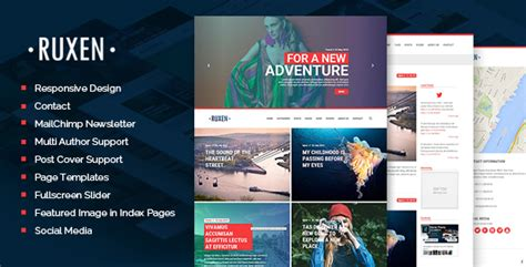blog themes for ghost 50 best responsive blogger templates premium 2016
